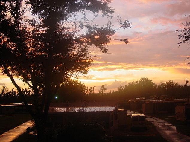 Camp Central RV Park Lake Wales Sunset